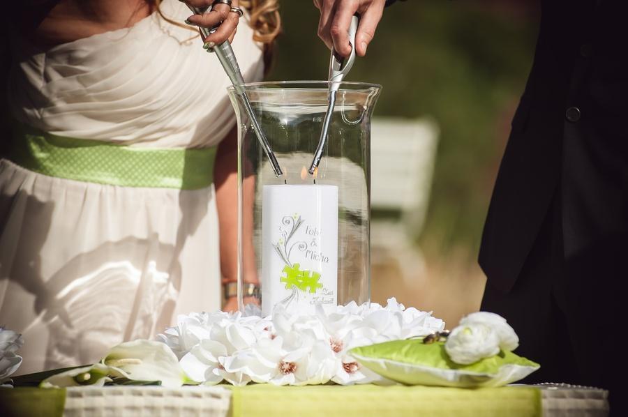 zweidochtige Hochzeitskerze